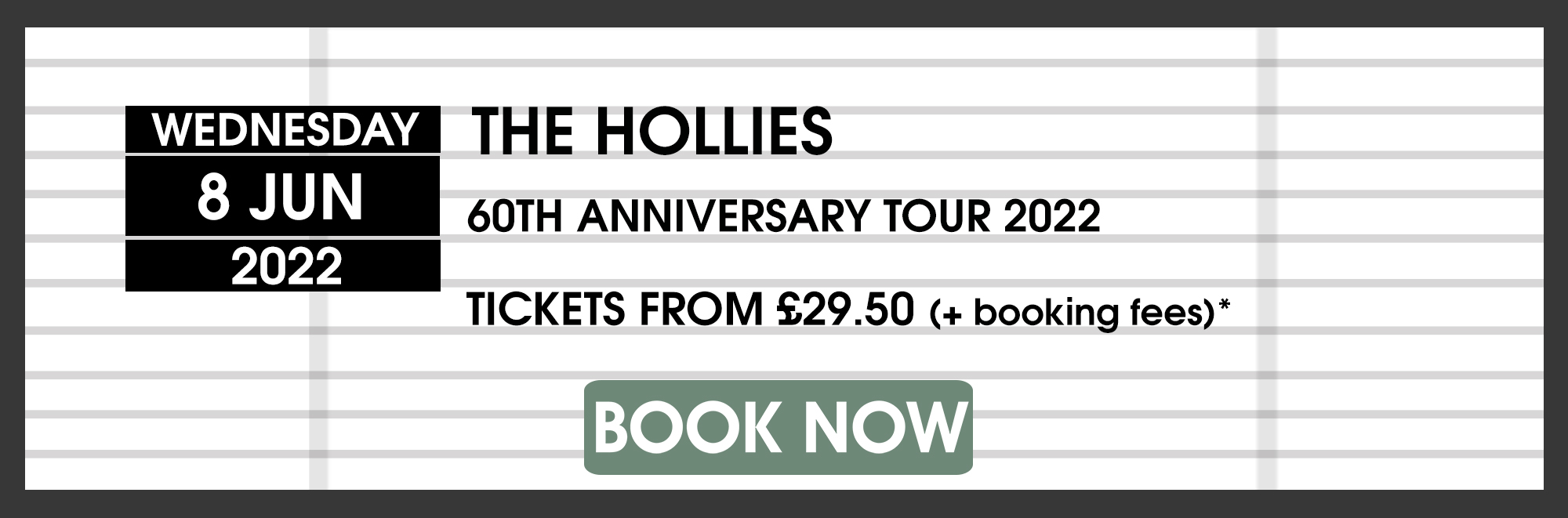 08.06.21 Hollies BOOK NOW